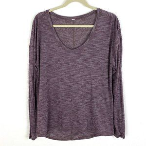 Lululemon long sleeve tee t-shirt marled plum